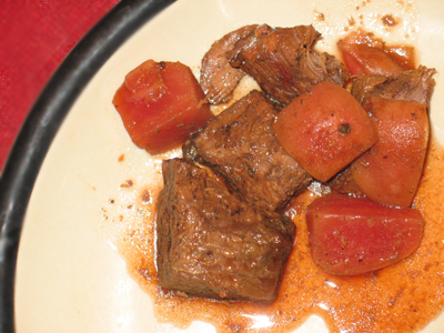 Crock Pot Beef with Beets