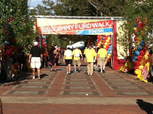 2012 Boston Marathon Jimmy Fund Walk - Finish Line