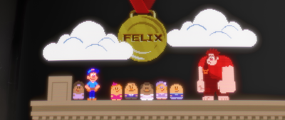 Wreck-It Ralph: Felix is presented with his medal