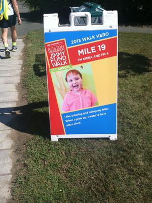 Mile 19 marker: Keira