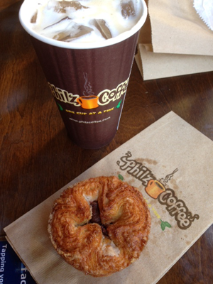 My breakfast at Philz: coffee and pastry