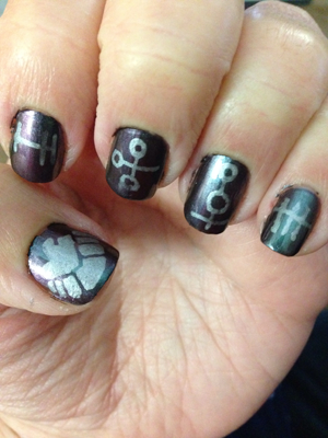 Marvel's Agents of SHIELD-inspired nails