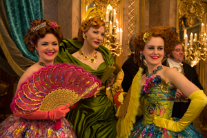 Lady Tremaine and her daughters arrive at the ball