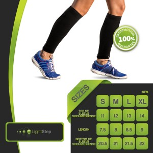Light Step Calf Compression Sleeves Size Chart