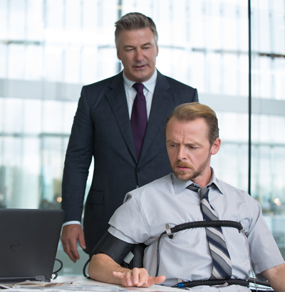 Alan Hunley, played by Alec Baldwin, and Benji Dunn, played by Simon Pegg