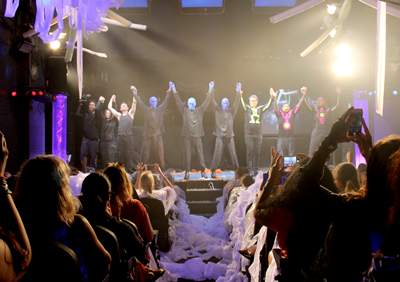 Blue Man Group cast, band, and crew take a bow