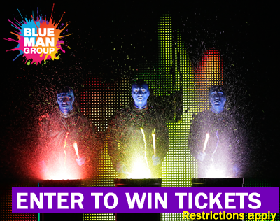 Enter to win tickets to see Blue Man Group!