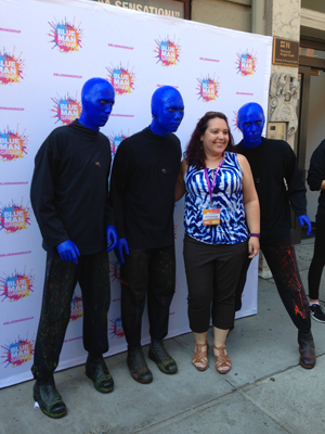 Me with the Blue Men!