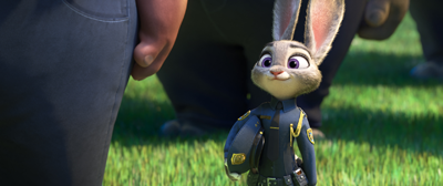 Judy Hopps (Ginnifer Goodwin) graduates from the Police Academy