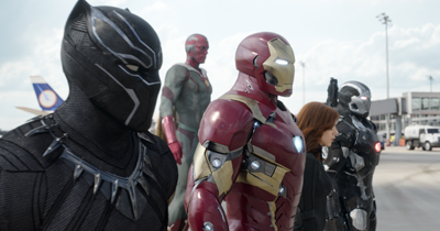 TeamIronMan: Black Panther, Vision, Iron Man, Black Widow, and War Machine