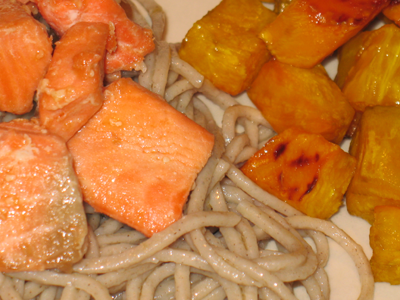 Sweet Sockeye Salmon with Soba and Golden Beets